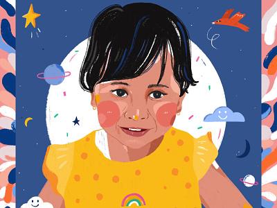 Portrait illustration digital art illustrator portrait illustration digital illustration