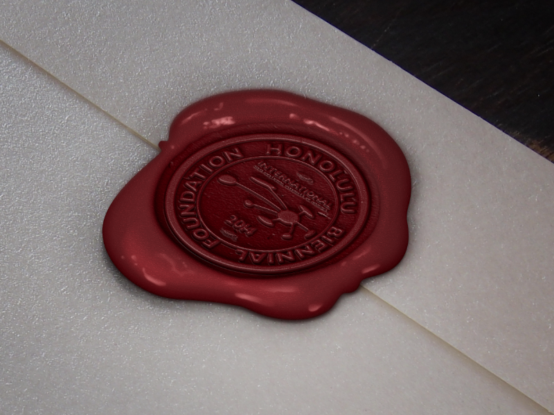 Honolulu Biennial Foundation Seal Stamp seal stamp graphic design logo