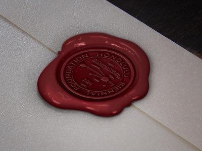 Honolulu Biennial Foundation Seal Stamp