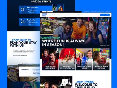 Triple Play - Homepage ui design website