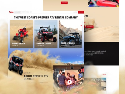 Steves ATV - Homepage red branding website