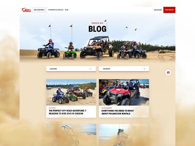 Steves ATV - Blog branding red design website