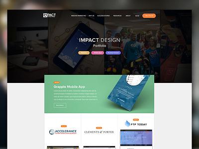 Designer Hub Portfolio hero web blog agency portfolio design