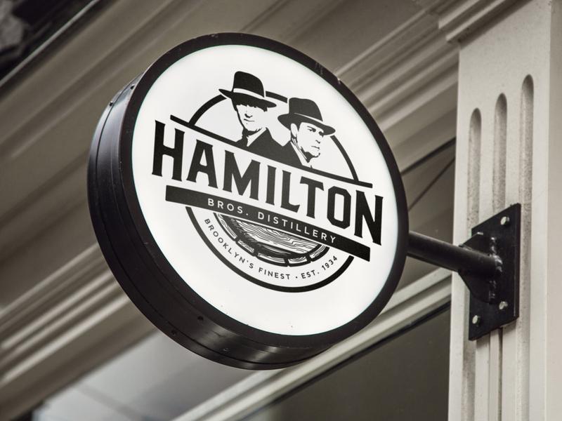 Logo design for Hamilton Bros. Distillery