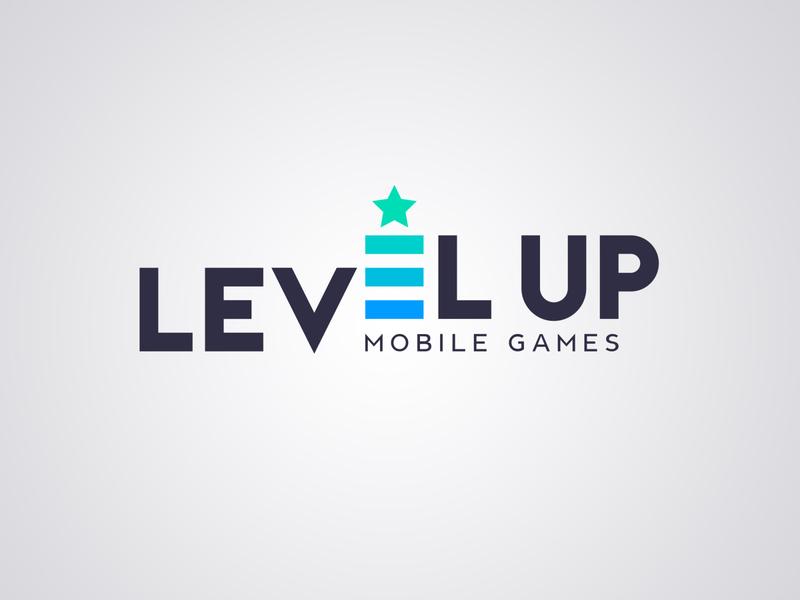 Logo design for Level Up Mobile Games