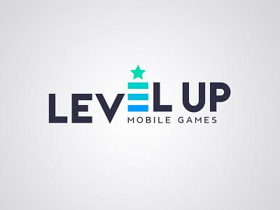 Logo design for Level Up Mobile Games branding logo logo design app design mobile app