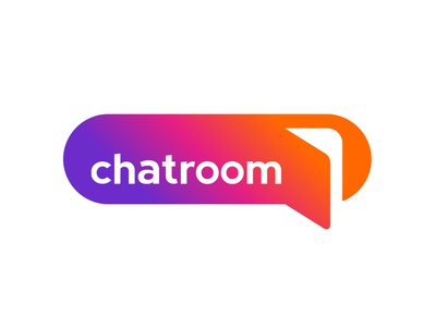 Chatroom group chat app logo concept