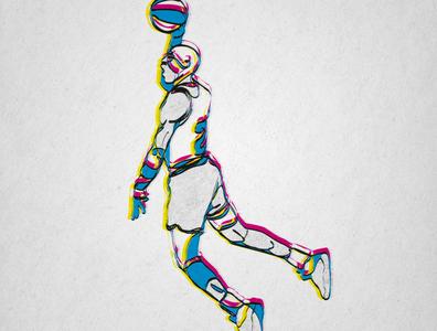Michael Jordan digital art tribute