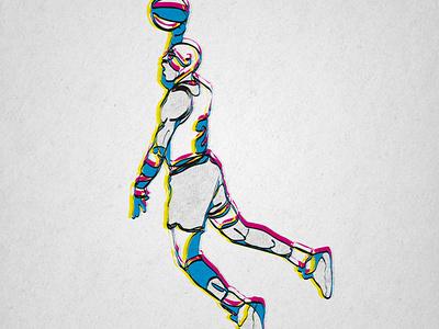 Michael Jordan digital art tribute digital artist basketball nba sports digital art art