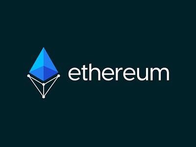 Ethereum logo update concept crypto cryptocurrency app ethereum cryptocurrency graphic design logo mark branding design logo design branding logo design