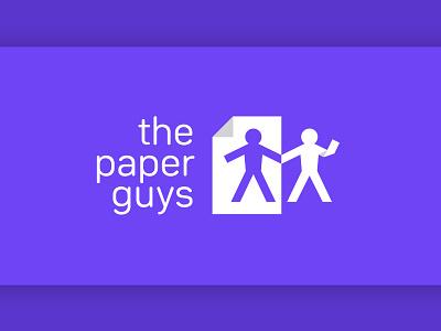 "Logo design for an online stationery store ""The Paper Guys"" logotype logo branding design graphic design logodesigns logo design branding logos logodesign"