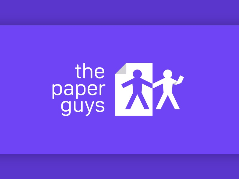 """Logo design for an online stationery store """"The Paper Guys"""""""