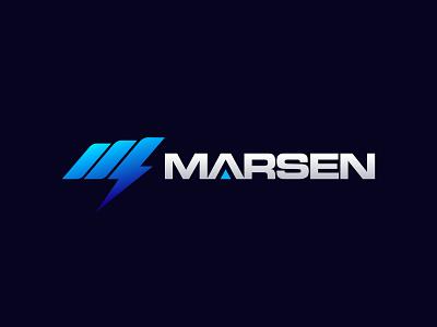 Logo design for Marsen - Battery brand logo branding branding design icon graphic design logo designer logo design
