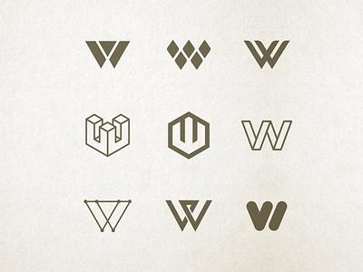 Letter W Exploration monograms monogram branding design branding logo design logo