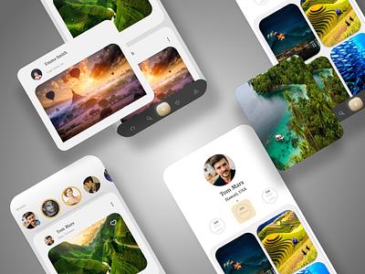 social media app dribbble best shot typography hellodribbble web ux ui minimal design branding app