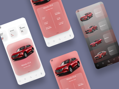 Car app concept car illustraion challenge hellodribbble web ux ui design branding app
