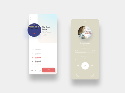 Audio book! audiobook application illustration challenge vector minimal web ui ux design branding app