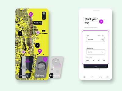 Transportation App illustraion challenge illustration hellodribbble design app ui ux web branding
