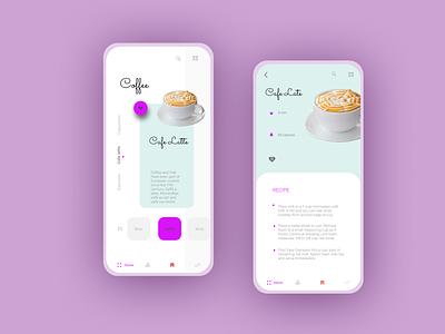 coffeeshop app icon logo minimal challenge design branding app web ux ui