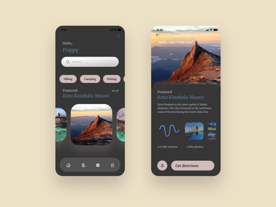 Find great attractions in nearby area application design ux ui uiux mobile ios