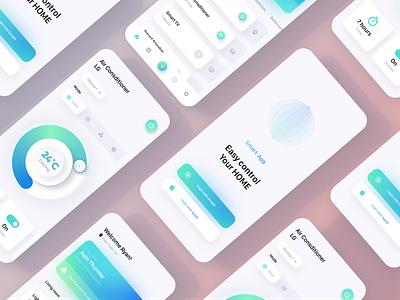 Smart Home vector challenge branding app web design illustration neomorphism minimalism ux ui smarthome