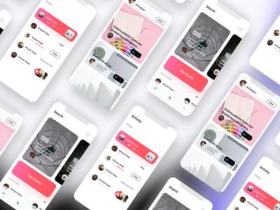 Social media design app illustraion minimal branding typography logo hellodribbble ux ui