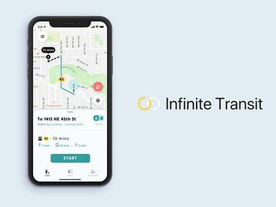 InfiniteTransit minimal animation branding app design