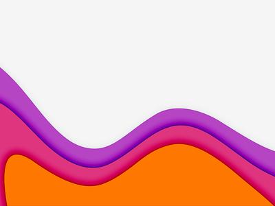 Portfolio Deck Illustration light theme orange red purple illustration papercut vector design minimal
