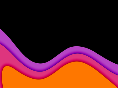 Portfolio Deck Black Theme design illustration minimal papercut orange red purple colors experiment version 2 portfolio deck dark theme