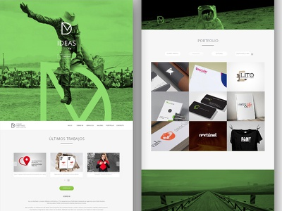 Personal website dmcreatividad graphic design