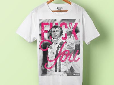 Steve Le Mans T_Shirt teepography typography nigel snowdon selfie font bebas neue the man and le mans steve mcqueen moondutik tee t-shirt