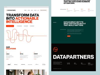 DataPartners Website wordpress ux ui website logo branding symbol identity agency branding agency visual identity system brand strategy