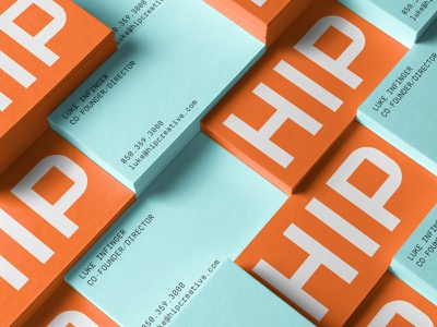 HIP Creative Business Business Cards rebrand branding identity symbol logo branding agency agency visual identity system brand strategy