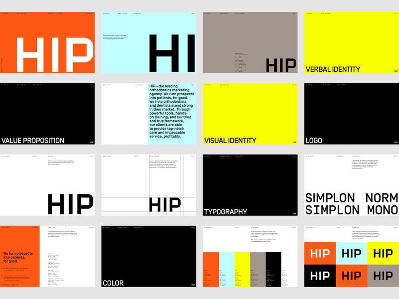 HIP Creative Brand Guidelines rebrand branding identity symbol logo agency branding agency visual identity system