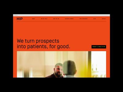 HIP Creative Website ux ui website rebrand branding identity symbol logo branding agency agency visual identity system brand strategy