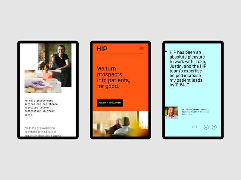 HIP Creative Website—Reponsive website ux ui rebrand branding identity symbol logo branding agency agency visual identity system brand strategy