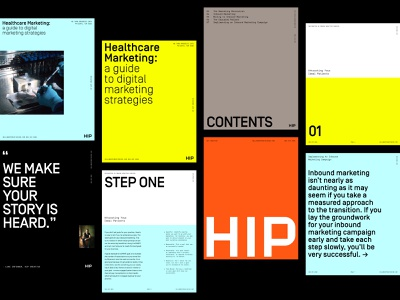 HIP Creative Ebook System design system ebook content design content rebrand branding identity symbol logo branding agency agency visual identity system brand strategy