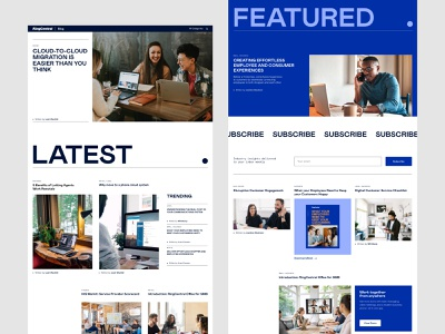 RingCentral Blog Redesign branding experience branding agency design system blog website ui ux content strategy