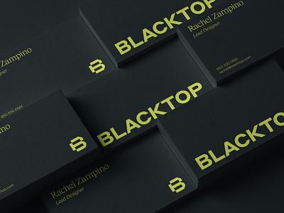 Blacktop Business Cards business card symbol branding identity simple logo brand design agency visual identity system brand strategy