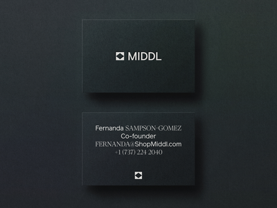 Middl Brand Identity fashion symbol simple identity logo brand design visual identity system brand strategy