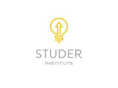Studer Institute light bulb s arrow innovation upward change institute positive