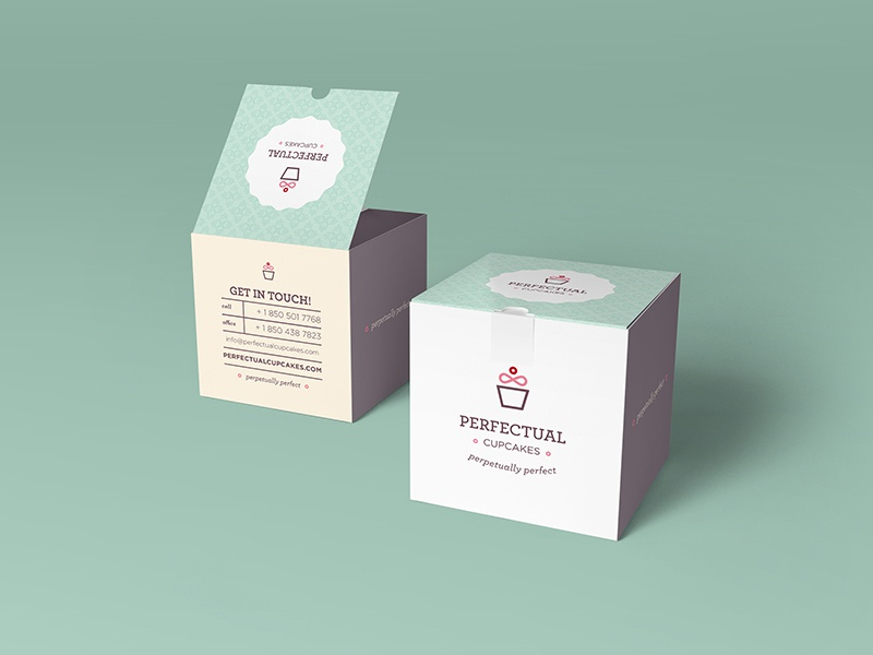 Perfectual Packaging perfect perpetual mockup faux cupcake infinity never ending options box