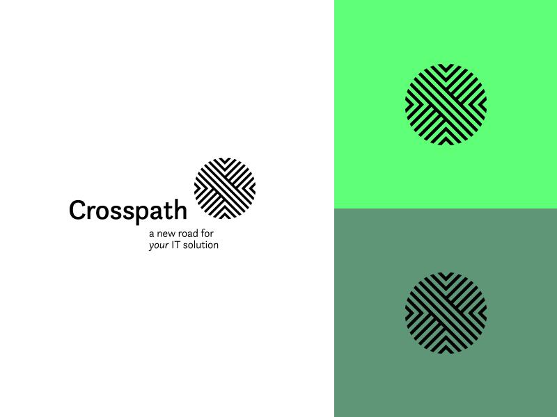 Crosspath IT complex sphere it path cross roads mark logo