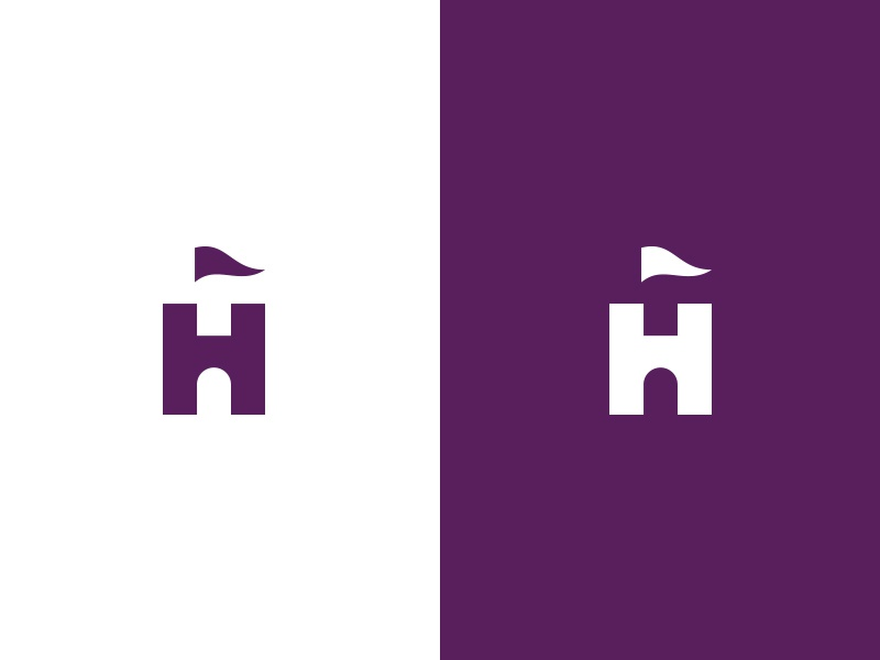 H + Castle financial protection authority security fortress castle h mark branding logo