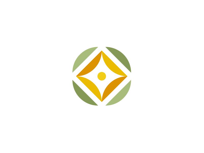 Flower circles geometry nature landscaping flower branding logo