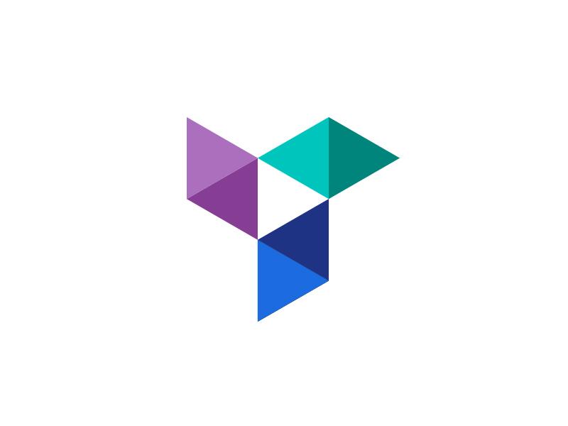 Pinwheel + Play Button identity button play pinwheel triangle geometry branding logo