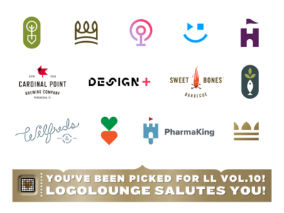 Logolounge 10 brewing carrot fish castle smile podcast crown shovel hand lettering typography logo branding