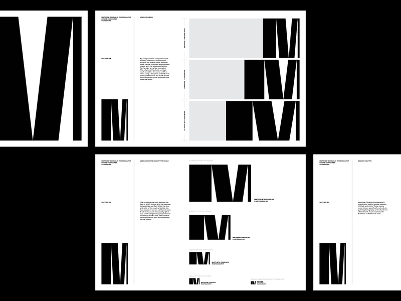 Matthew Coughlin Brand Guidelines light monogram simple flexible brand identity style guide visual identity system logo brand guideline brand