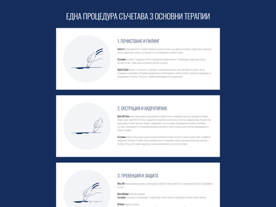 Step by step explanation sections / Beauty Studio / Web Design processflow step by step website ux ui design