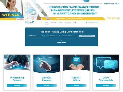 SOFEMA Aviation Services / Web Design aviation website ux ui design